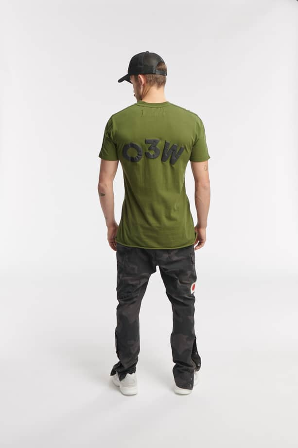 REP SS TEE ARMY GREEN O3W ONCE WE WERE WARRIORS