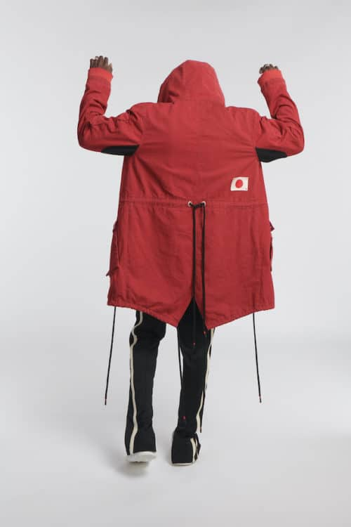 para parka jacket red o3w once we were warriors