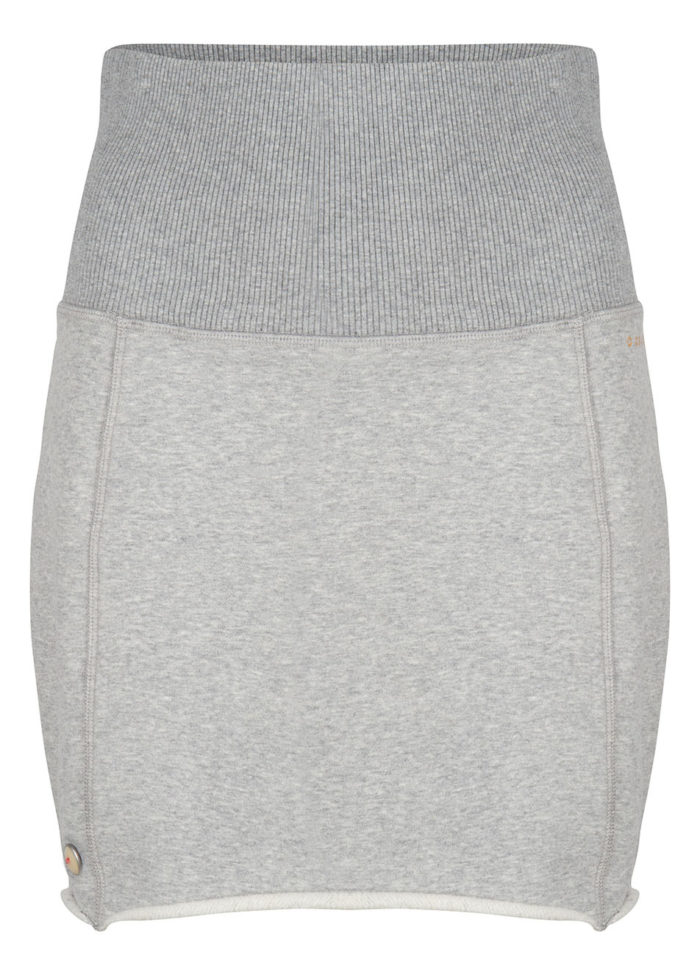anzu sweat skirt grey melange once we were warriors