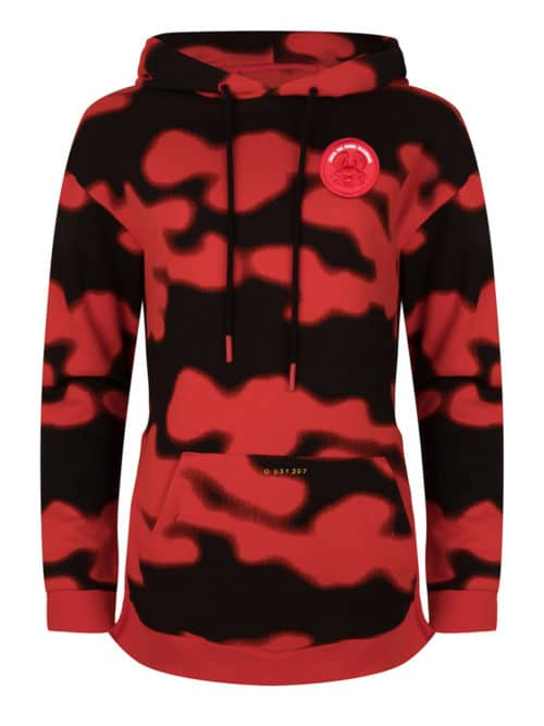 solo hoodie sweat camo print fiery red once we were warriors