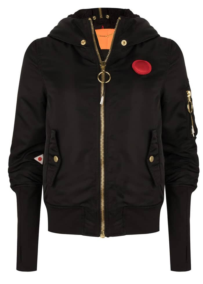 MIYO BOMBER JACKET BLACK ONCE WE WERE WARRIORS