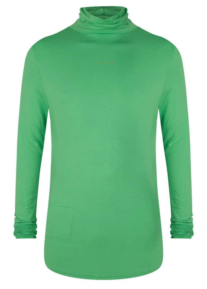 SILI LONGSLEEVE HIGHNECK COL NEON GREEN ONCE WE WERE WARRIORS