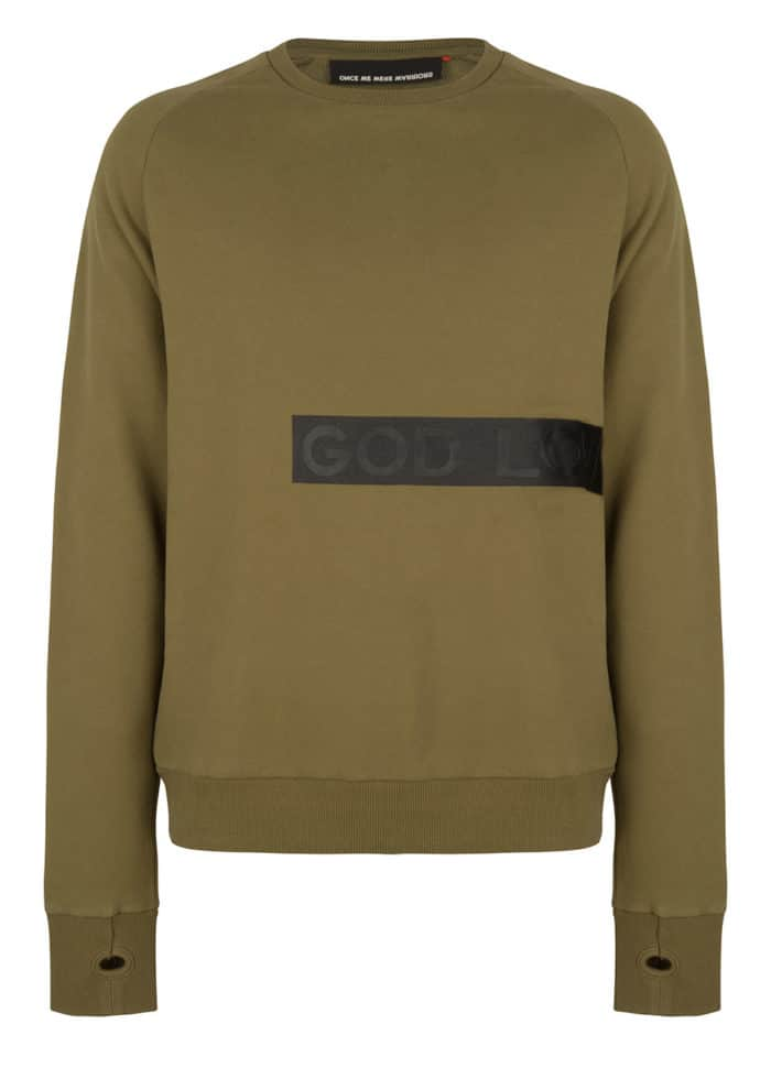 KIONI SWEAT CREWNECK OLIVE GREEN ONCE WE WERE WARRIORS