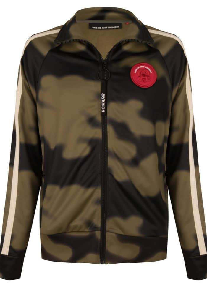 JADO TRACK JACKET OLIVE ONCE WE WERE WARRIORS