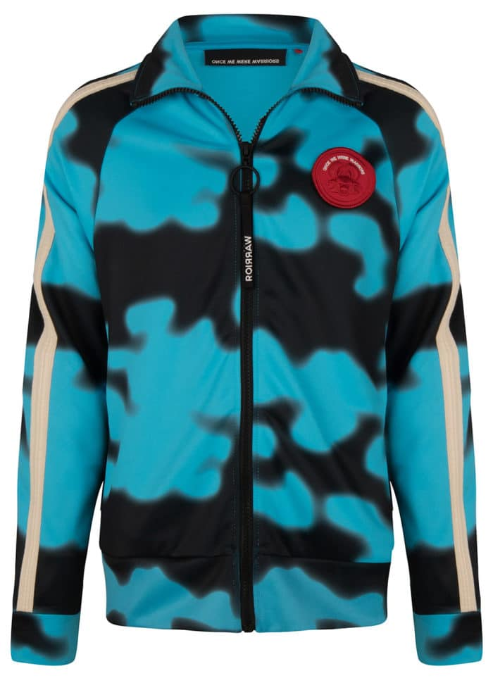 JADO TRACK JACKET AQUA ONCE WE WERE WARRIORS