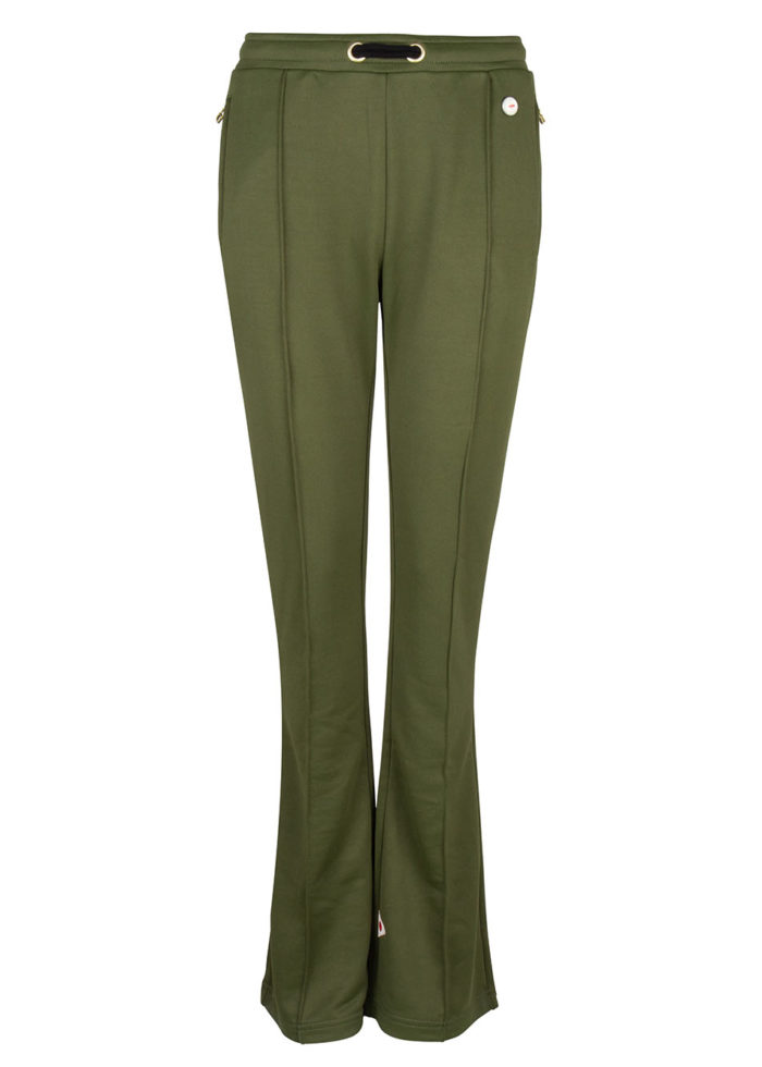 Suzu flared track pants army green once we were warriors