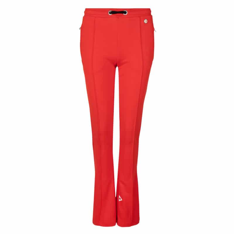 Suzu flared track pants red once we were warriors
