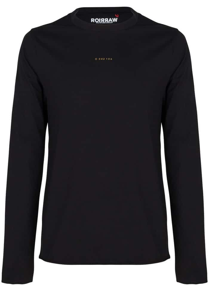 amiki long sleeve tee solid black once we were warriors
