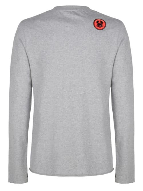 amiki long sleeve tee grey melange once we were warriors