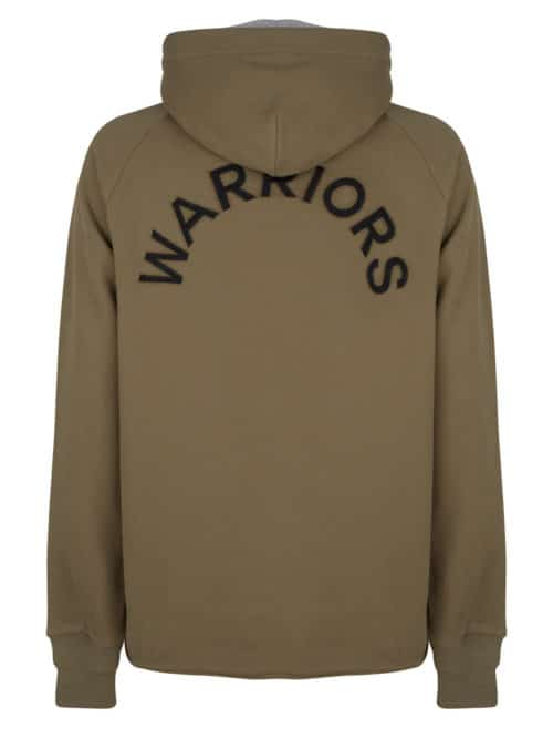 mai sweat hoodie olive green once we were warriors