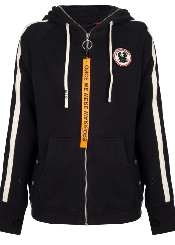 tokyo 2 full zip hoodie black once we were warriors O3W