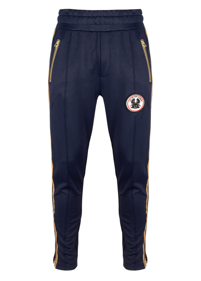 woo track pants dark indigo once we were warriors O3W