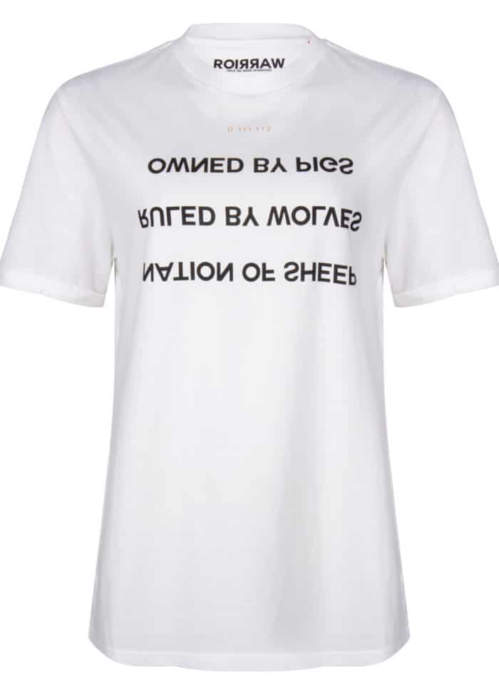 hapo tee white once we were warriors O3W