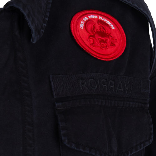 RIKU 2 TROOPER JACKET SOLID BLACK ONCE WE WERE WARRIORS O3W