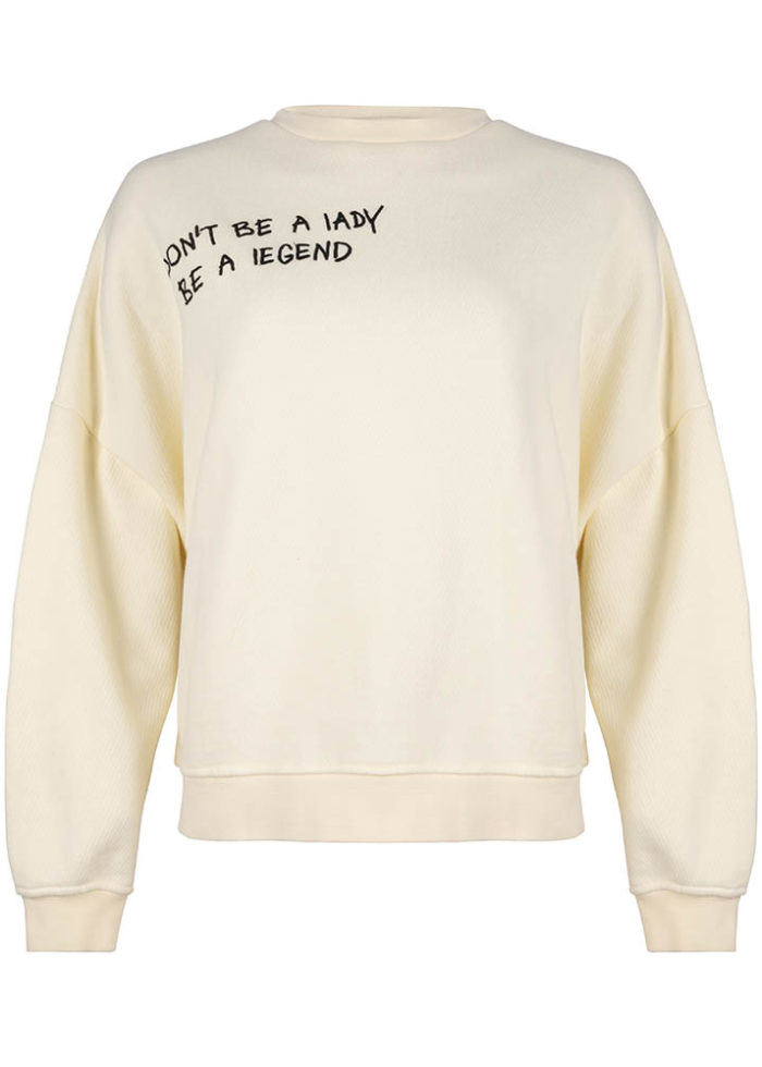 FUKU CREWNECK ANTIQUE WHITE O3W ONCE WE WERE WARRIORS