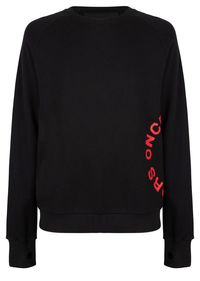 ASANO CREWNECK BLACK O3W ONCE WE WERE WARRIORS
