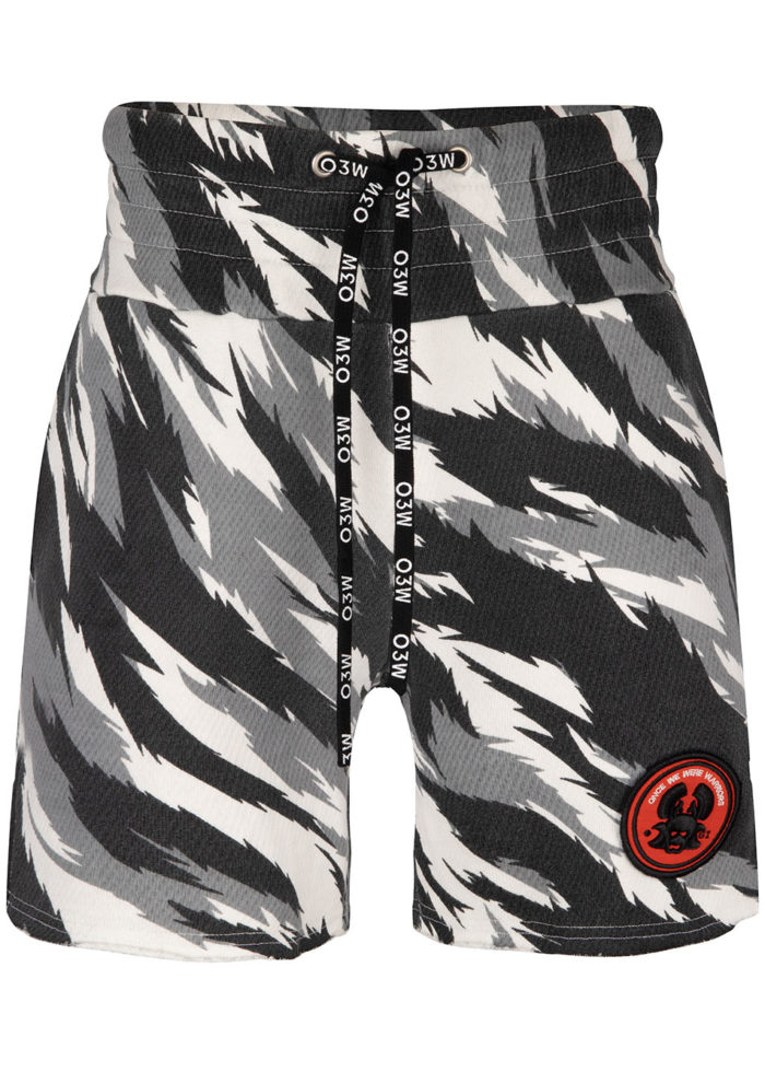 UTSURI FIGHT SHORTS CAMO TIGER WHITE O3W ONCE WE WERE WARRIORS